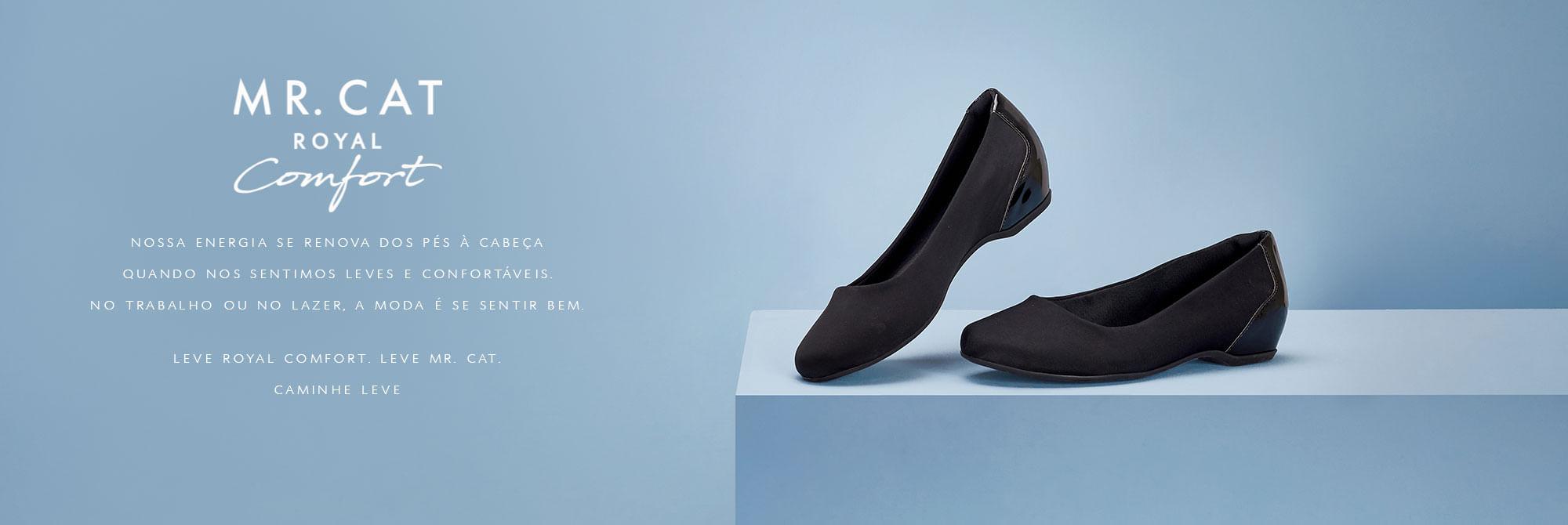 7775c89b9a Feminino - Sapatos Linha Royal Comfort flexível – Mr Cat
