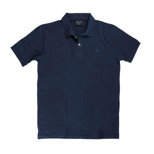 a1acda10a camisa polo lisa piquet tradicional azul gola social algodão image