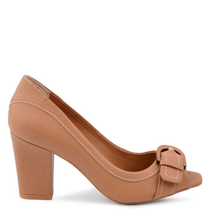 9938595d4e SCARPIN PEEP TOE FIVELA DUO TAN - Mr Cat