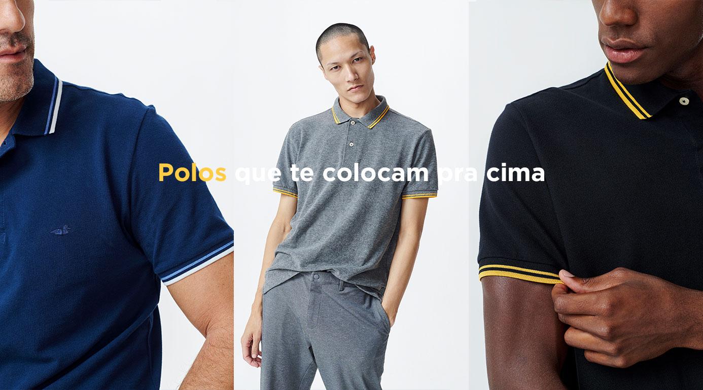 POLO PICKET BÁSICA COM FRISO